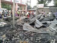 खगड़ा मार्केट में लगी आग, लाखों का नुकसान
