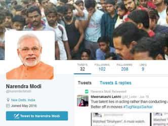 ट्विटर पर सबसे ज्यादा फॉलो किए जाने वाले भारतीय बने मोदी