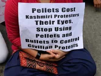 कश्मीर में पैलेट गन पर पूरी तरह से रोक नहीं
