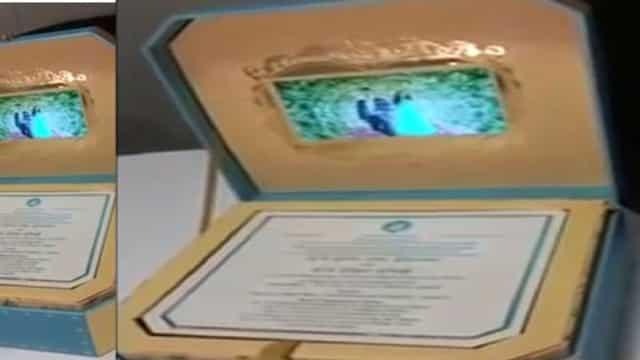 कर्नाटक के पूर्वमंत्री ने बेटी की शादी में बनवाया अनोखा निमंत्रण पत्र