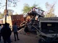 वाहनों की टक्कर में एक की मौत, चार घायल