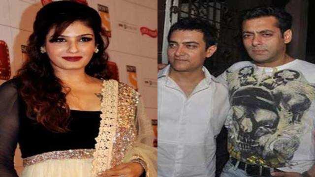 Oops! सलमान-आमिर को लेकर बोलीं रवीना, 'वो 21 साल की लड़की के पीछे...'