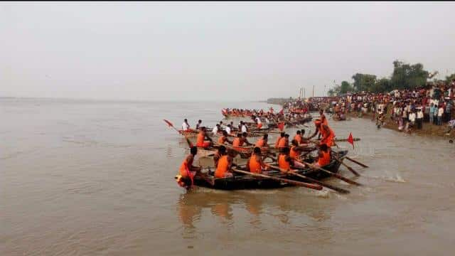 Boat Race (Dragon Boat) Competition at Bhagalpur