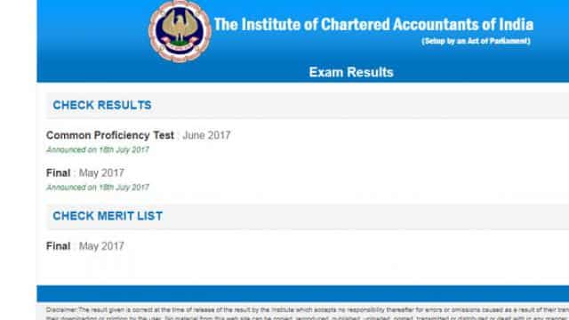 CA Final Exam and CPT Result declared