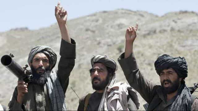 File photo of Taliban fighters