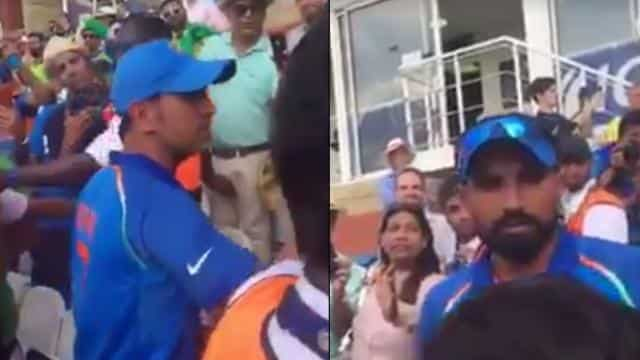 MS Dhoni, Mohammed Shami