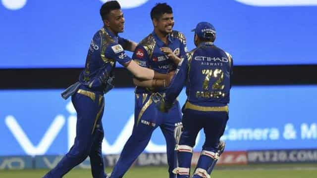 Mumbai Indians bowler Karn Sharma was named Man of the Match for picking up 4/16 against Kolkata Kni