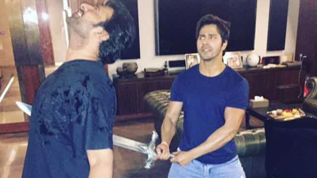 Prabhas and varun Dhawan