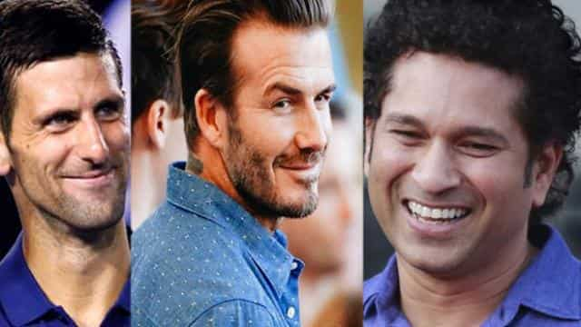 Sachin Tendulkar David Beckham Novak Djokovic