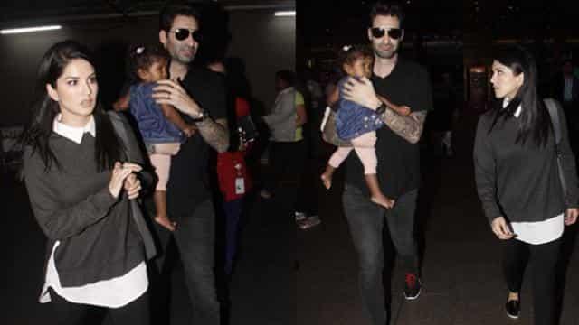 Sunny Leone, husband Daniel, sunny daughter Nisha Kaur Weber,