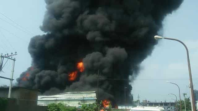 fire in vaishali industrial area