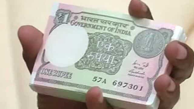 one rupee currency note