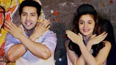 Varun and Alia during the launch event