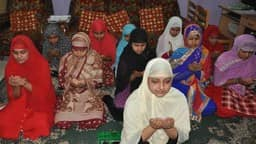 Eid prayers in Bhagalpur by devotee women