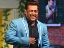 Salman Khan at the launch of the TV show Bigg Boss 11