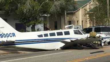 plane Crashed on the street