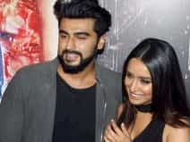 Arjun and Shraddha during the success party of Half Girlfriend