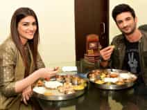 Sushant Singh Rajput and Kriti Sanon for the promotion of their film 'Raabta'