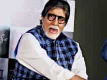 Amitabh Bachchan during song launch