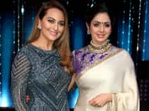 Sonakshi Sinha and Sridevi on the sets of Nach Baliye