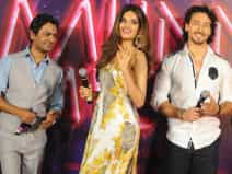 Bollywood actors at a promotional event
