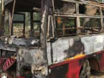 22 charred to death in UP bus accident