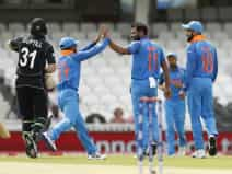 India beat New Zealand in Champions Trophy warm-up