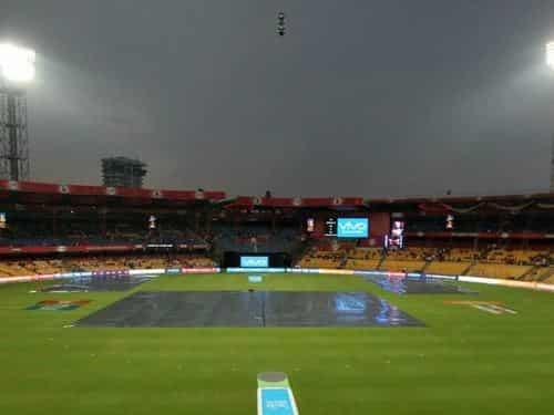 RCBvSRH: बारिश के कारण मैच रद्द, 1-1 अंक मिले