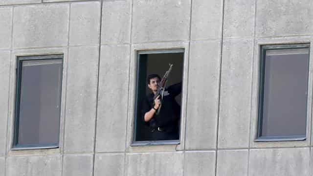 shooting inside iran parliament