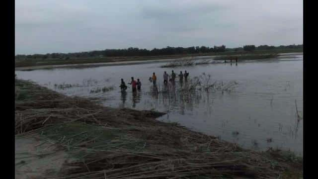 flood affected area at araria