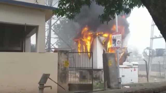 mobile tower fire