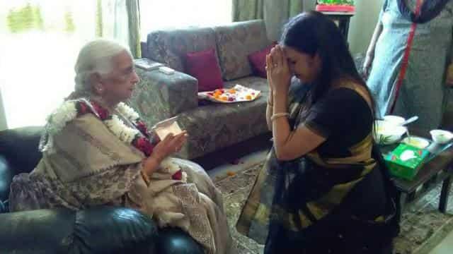 Filk Singer Malini Awasthi with Girija Devi
