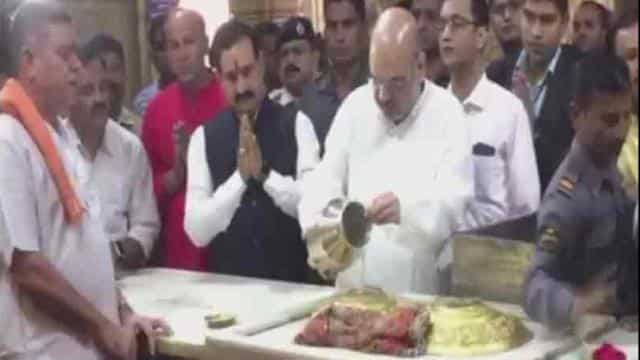 amit shah in somnath temple