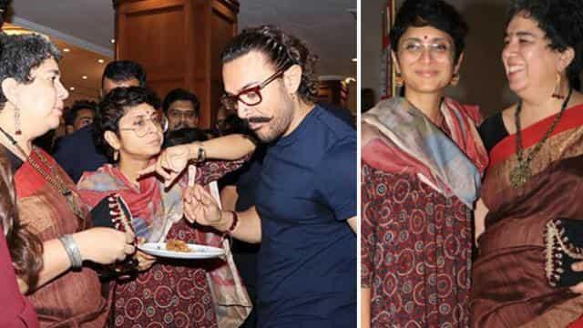 आमिर, किरण और रीना दत्ता