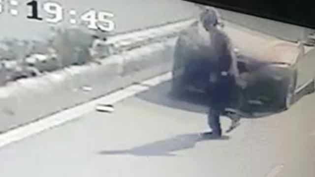 हिट एंड रन का मामला सीसीटीवी कैमरे में कैद हो गया था।