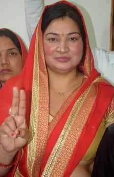 Sarita Singh, BJP candidate for jila panchayat president in