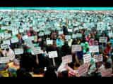 Silent procession of muslim women against three divorce bills at katihar