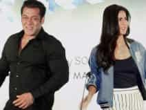 Salman Khan and Katrina Kaif during a press conference