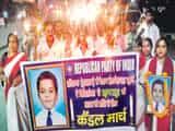 रिपब्लिकन पार्टी ऑफ इंडिया ने निकाला शांति मार्च