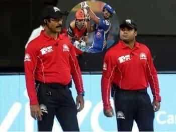 SRH vs MI: IPL10 में भारतीय अंपायर्स मेनन-नंदन ने की शर्मनाक गलती, हो गई VIRAL
